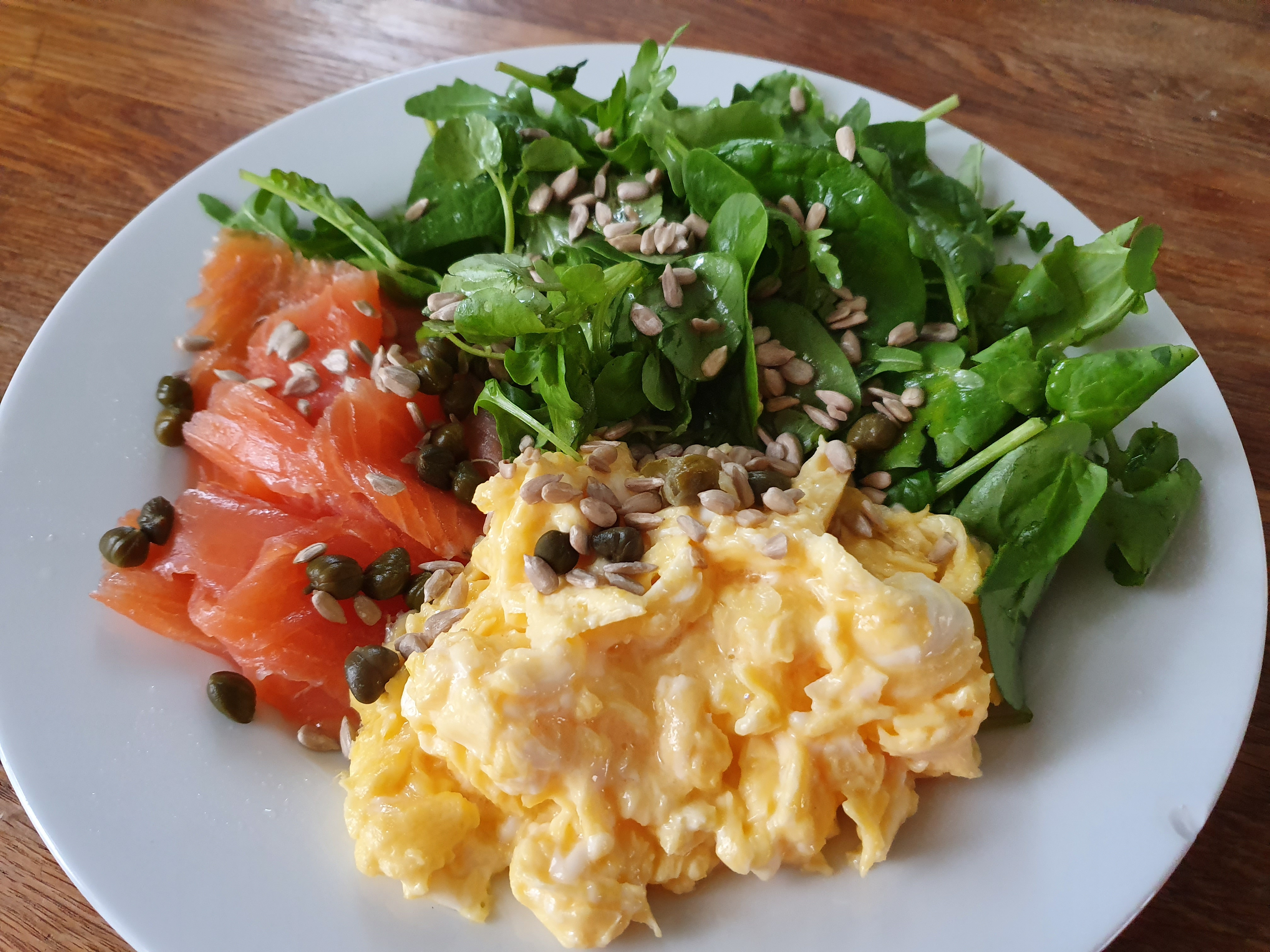 Simple Salmon and Scrambled Eggs