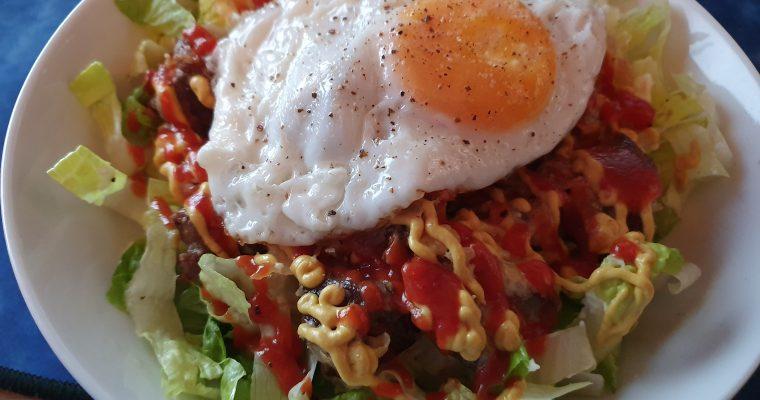 Cheeseburger & Egg Salad