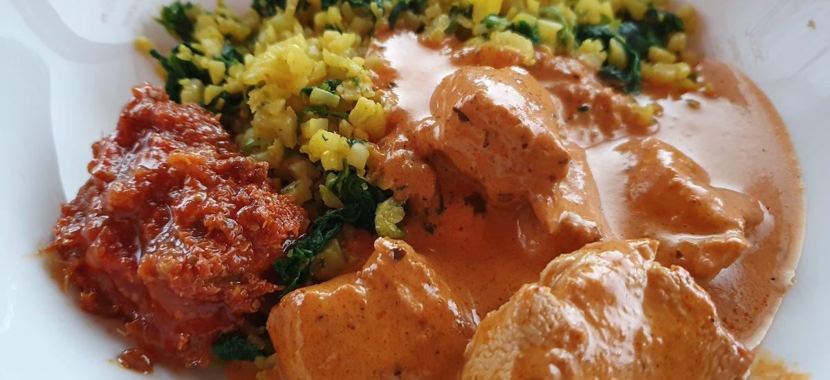 Butter Chicken & Spinach Pilau Caulirice