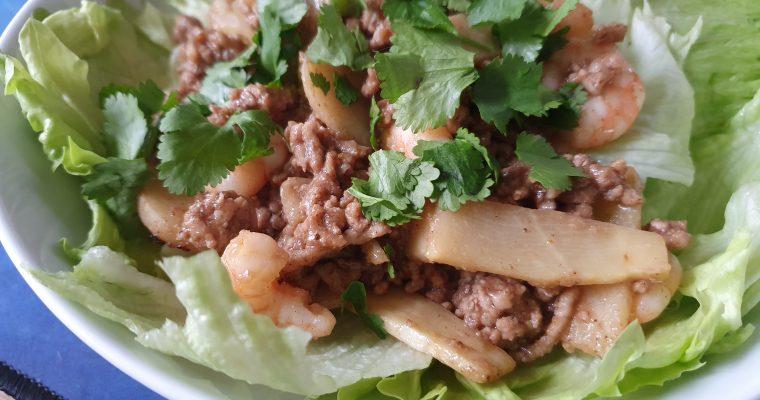 Chinese Minced Pork & Prawn Salad